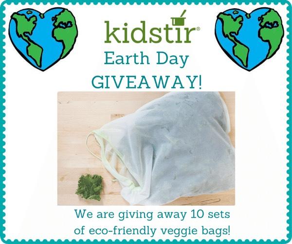 Kidstir Earthday Giveaway Veggie Bags