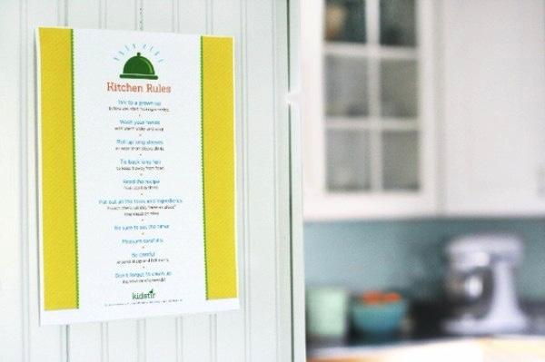 Kitchen Rules on Door