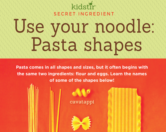 pasta noodle shapes infographic