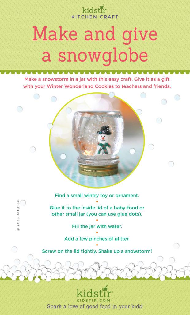 Make snow globe infographic