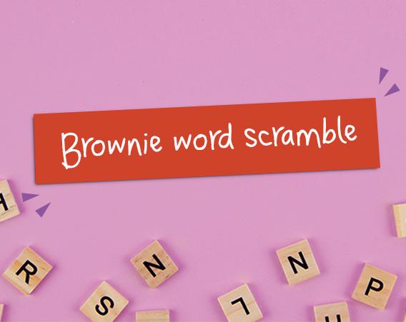 Brownie Word Scramble